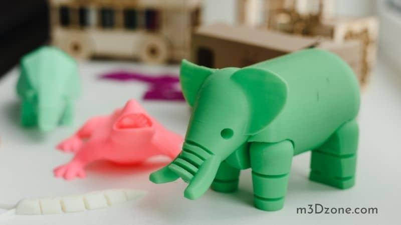 3D Printed Elephant Figurine Toy