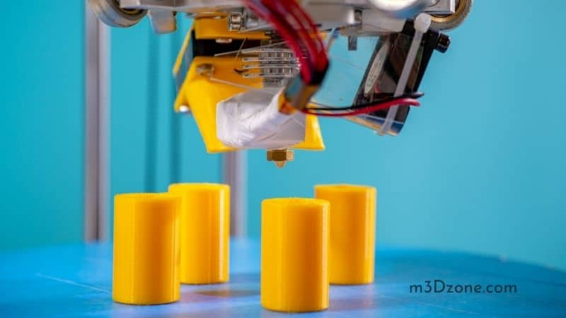Yellow 3D Printed Cilinders